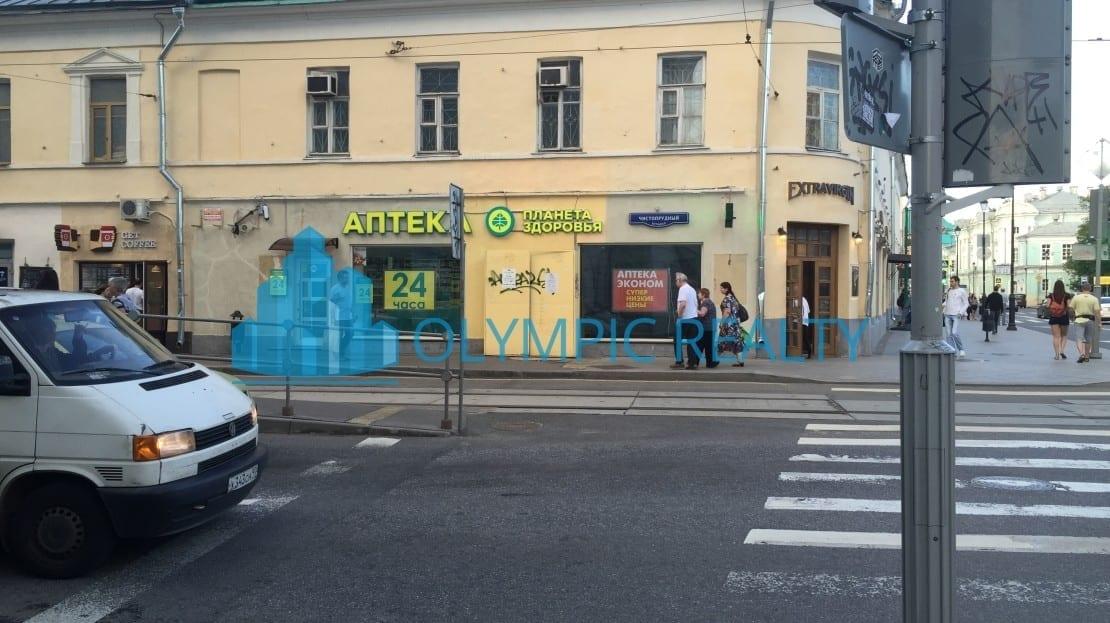 покровка д.17 продажа помещения арендатор аптека арендный бизнес Москва