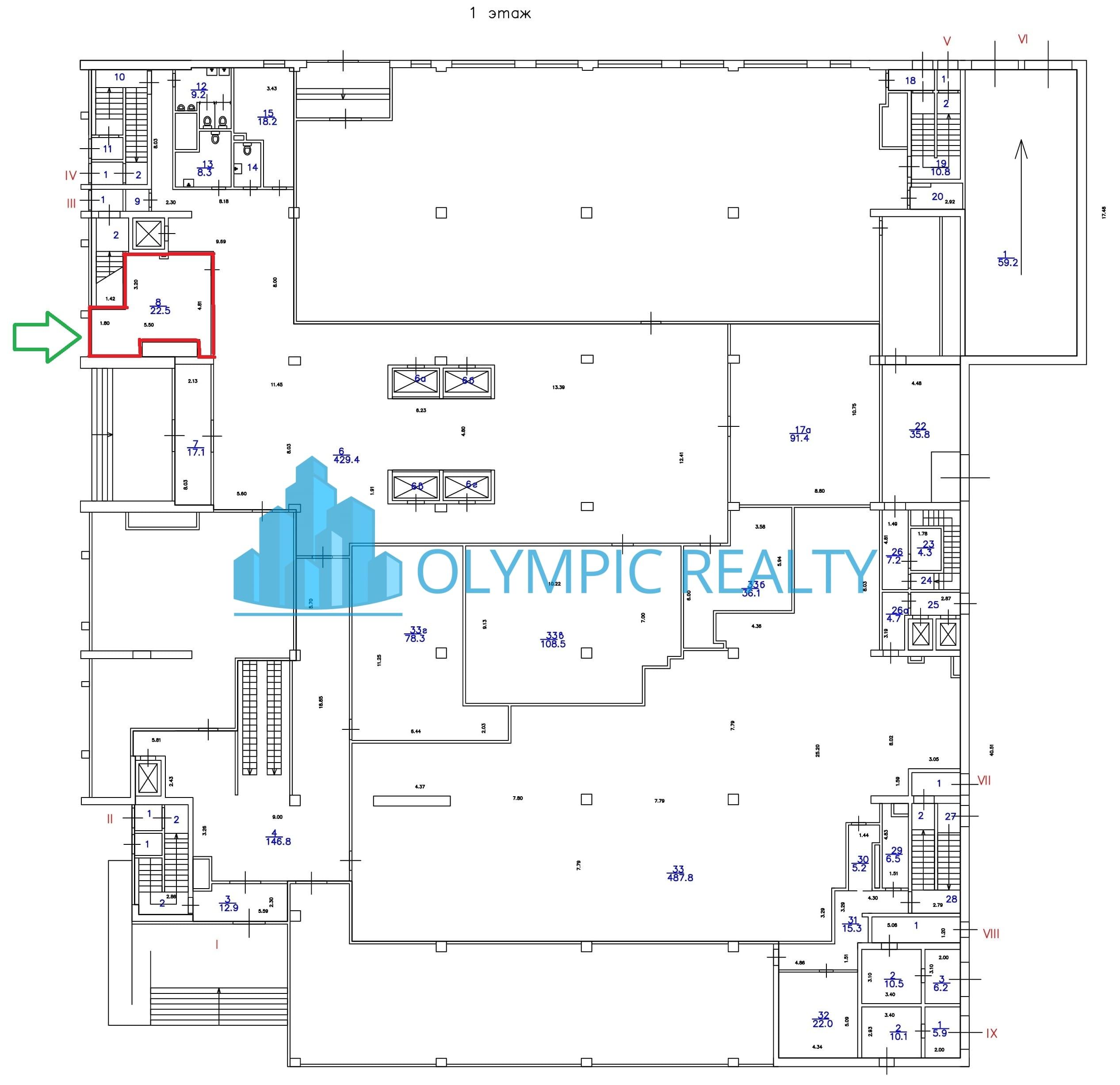Продажа торгового помещения на Олимпийском