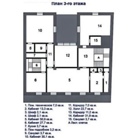 Проспект Мира 20к2 план 3 этаж